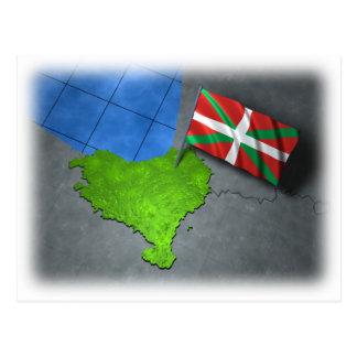 País vasco con su propia bandera postales
