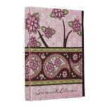 País verde rosado personalizado Paisley floral