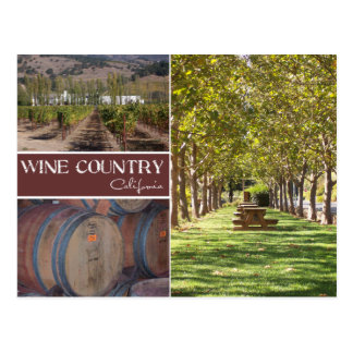 País vinícola, California Postales
