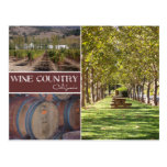 País vinícola, California Tarjeta Postal