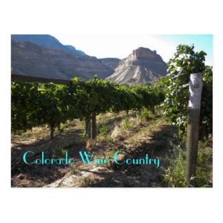 País vinícola de Colorado Tarjetas Postales