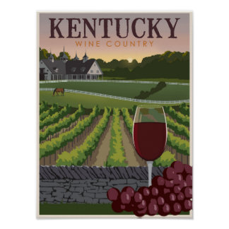 País vinícola de Kentucky Impresiones