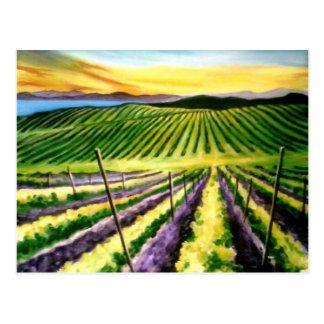 País vinícola de la postal de Pinot