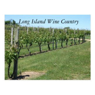 País vinícola de Long Island Postales