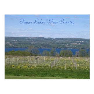 País vinícola de los lagos finger tarjetas postales
