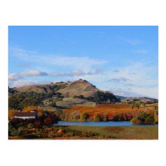 País vinícola de Napa Valley en la caída Postal