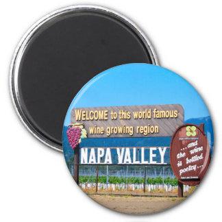 País vinícola de Napa Valley Imán Redondo 5 Cm