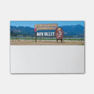 País vinícola de Napa Valley Post-it Notas