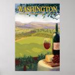 País vinícola de Washington - poster del viaje