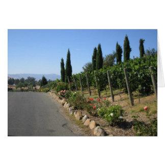País vinícola tarjetas