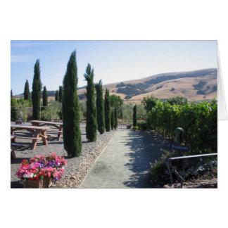 País vinícola tarjeton