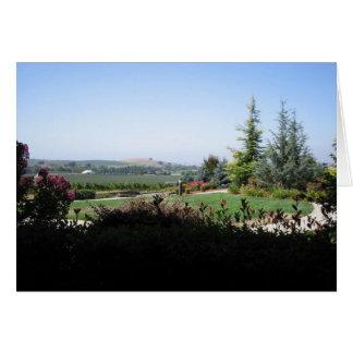 País vinícola tarjeta