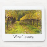 País vinícola - viñedo en otoño alfombrilla de ratón