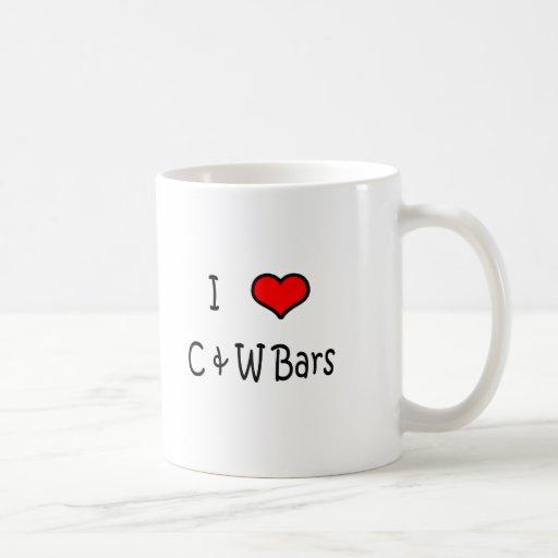 País y barras occidentales taza de café