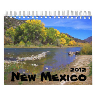 Paisaje 2012 de New México Calendarios De Pared