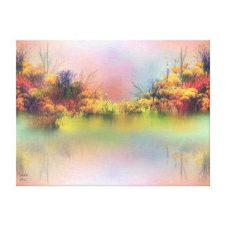 Paisaje 24 x 18 de la fantasía impresiones de lienzo
