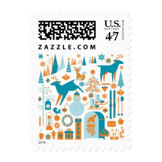 Paisaje 2 del navidad timbres postales