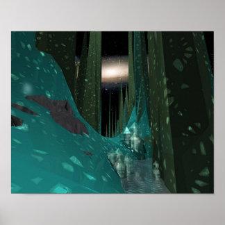 Paisaje 2, planeta del hielo póster