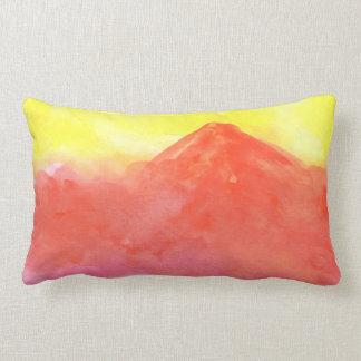 Paisaje abstracto anaranjado del volcán de la cojín lumbar