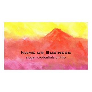 Paisaje abstracto anaranjado del volcán de la tarjetas de visita