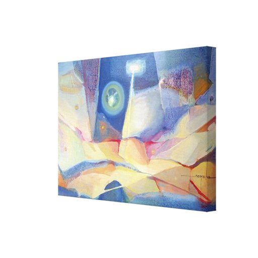 Paisaje abstracto Buenos Aires 24.25x17 Impresión En Lona