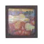 Paisaje abstracto caja de recuerdo de calidad
