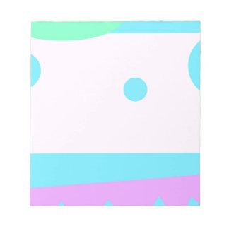Paisaje abstracto con las lunas azules - libreta bloc de notas