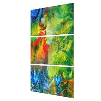 Paisaje abstracto de la antorcha 1 ligero impresiones de lienzo