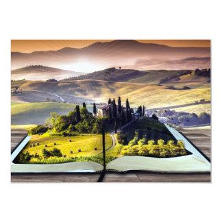 """Paisaje abstracto de la naturaleza para el lector invitación 5"""" x 7"""""""