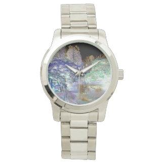 Paisaje abstracto de los árboles de la fantasía relojes de mano