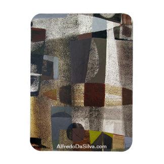 Paisaje abstracto de Potosi Bolivia 20,3 x 28,9 Imanes De Vinilo