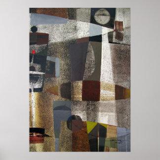 Paisaje abstracto de Potosi Bolivia 20,3 x 28,9 Póster