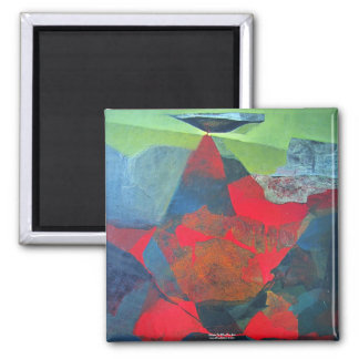 Paisaje abstracto de Potosi Bolivia 21,9 x 27,6 Imán Cuadrado