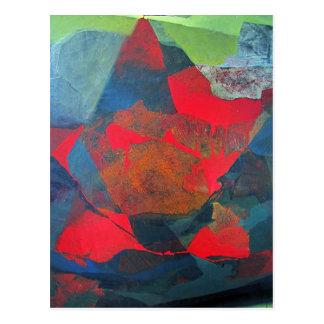 Paisaje abstracto de Potosi Bolivia 21,9 x 27,6 Tarjetas Postales