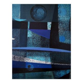Paisaje abstracto de Potosi Bolivia 21x26.9 Póster