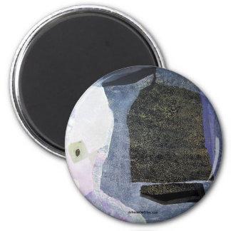 Paisaje abstracto de Potosi Bolivia 22x23.9 Imán Redondo 5 Cm