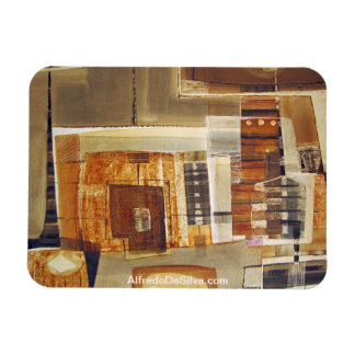 Paisaje abstracto de Potosi Bolivia 25,75 x 22 Iman Rectangular