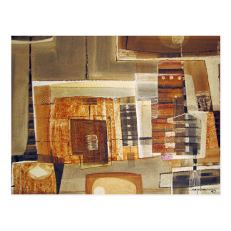 Paisaje abstracto de Potosi Bolivia 25,75 x 22 Postales