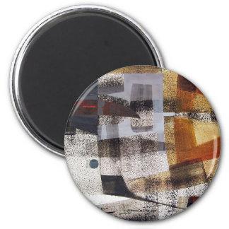 Paisaje abstracto de Potosi Bolivia 27.3x19.9 Imán Redondo 5 Cm