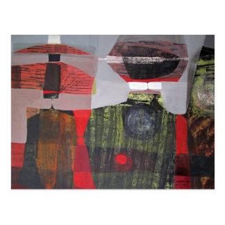 Paisaje abstracto de Potosi Bolivia 28.9x19.6 Tarjetas Postales