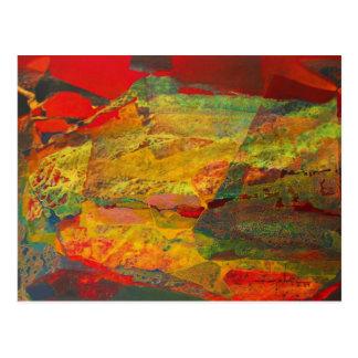 Paisaje abstracto de Potosi Bolivia 29x18 Postales