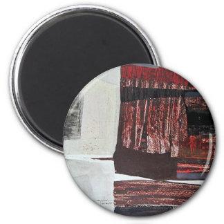 Paisaje abstracto de Potosi Bolivia 30.3x22.3 Imán Redondo 5 Cm
