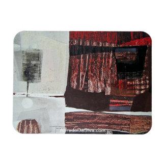 Paisaje abstracto de Potosi Bolivia 30.3x22.3 Imanes