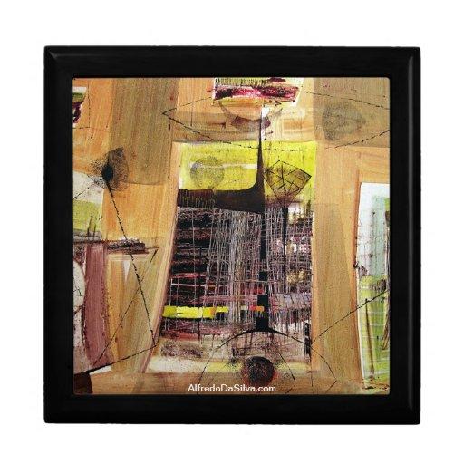 Paisaje abstracto de Potosi Bolivia 30.6x21.3 Caja De Joyas