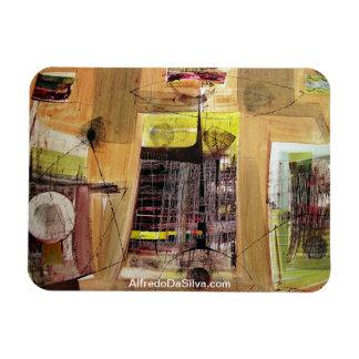 Paisaje abstracto de Potosi Bolivia 30.6x21.3 Imanes