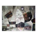 Paisaje abstracto de Potosi Bolivia 30.6x22 Postal
