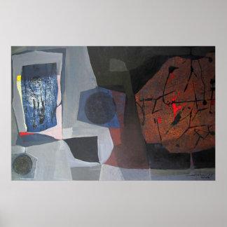 Paisaje abstracto de Potosi Bolivia 30.9x20.3 Póster