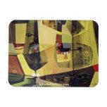 Paisaje abstracto de Potosi Bolivia 30x22.6 Imán De Vinilo