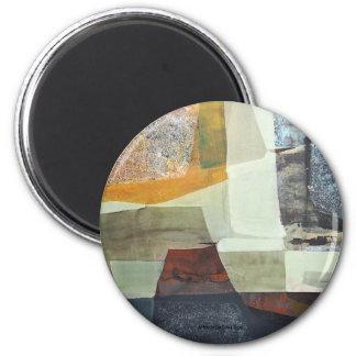Paisaje abstracto de Potosi Bolivia 30x22 Imán Redondo 5 Cm
