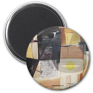 Paisaje abstracto de Potosi Bolivia 31.3x21.6 Imán Redondo 5 Cm